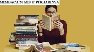 Membaca 20 menit perharinya